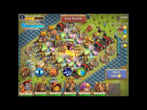 Castle Clash: My Life For Full Gold Vaults....