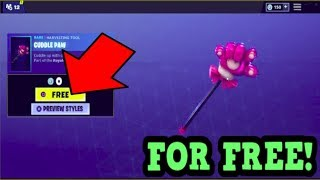 HOW TO GET *NEW* CUDDLE PAW PICKAXE FOR FREE! (Fortnite New Pickaxe)