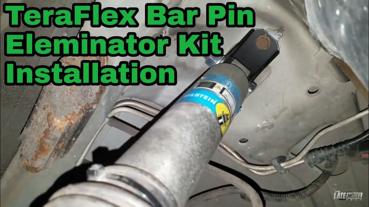 TeraFlex 1204800 TJ//XJ Rear Upper Shock Bar Pin Eliminator Kit