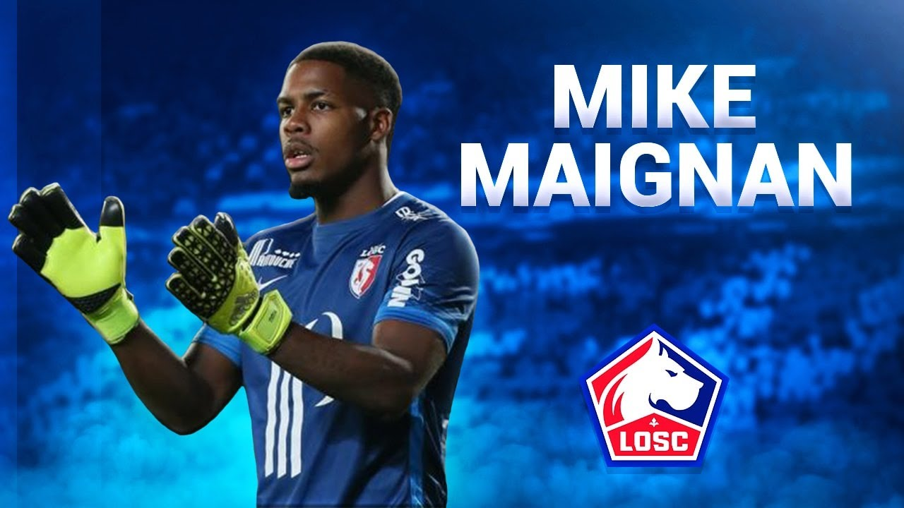 Mike Maignan ○ Saves, Skills & Passes - 2017/2018 ○ Lille OSC - YouTube