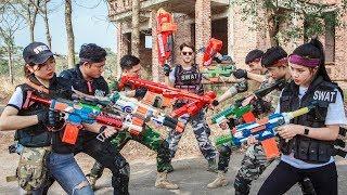 LTT Nerf War : Mercenary SEAL X Warriors Nerf Guns Fight Criminal Group Bandits Diamond