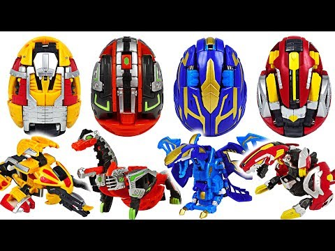 Transform from eggs to dinosaur! Hello Carbot Kung BrachiKung, TyraKung appeared!! #DuDuPopTOY