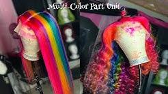 Let's Start A Trend 👀 Multi-Color rainbow Part 🌈🎨🤩 #Pridemonth