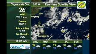 Parasat Weather Update Cagayan de Oro City: July 11, 2012