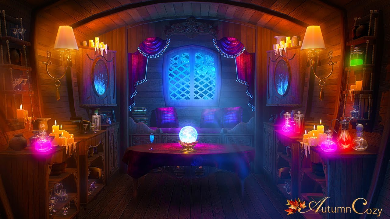 FORTUNE TELLER CARAVAN AMBIENCE: Bubbling Potion Sounds, Chimes, Shuffling Sounds, Crinkles