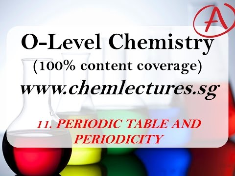 (11th of 19 Chapters) Periodic Table and Periodicity - GCE O Level Chemistry Lecture