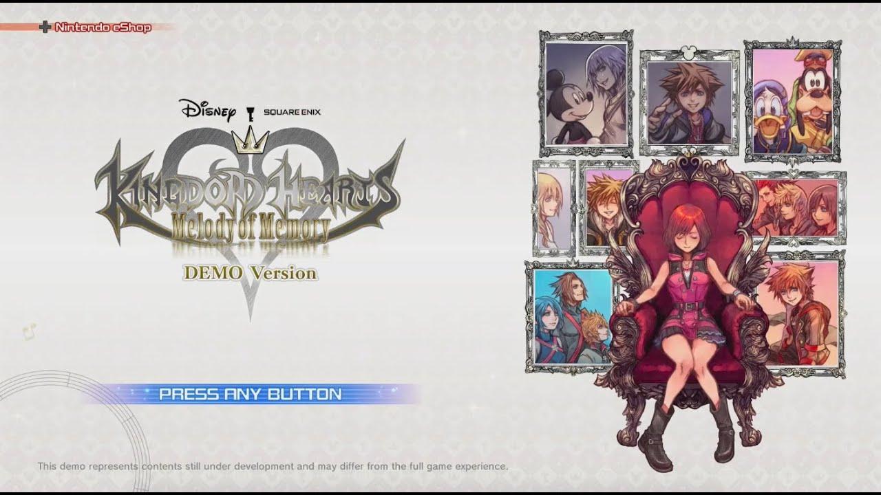 Kingdom Hearts Melody of Memory Demo Footage