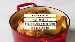 Puode keptas viščiukas su rudeninėmis daržovėmis ir rozmarinais   VERDU IR KEPU   2021