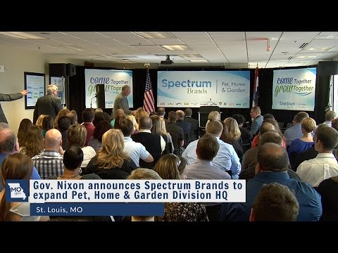 Gov Nixon announces Spectrum Brands to expand Pet, Home & Garden Division HQ