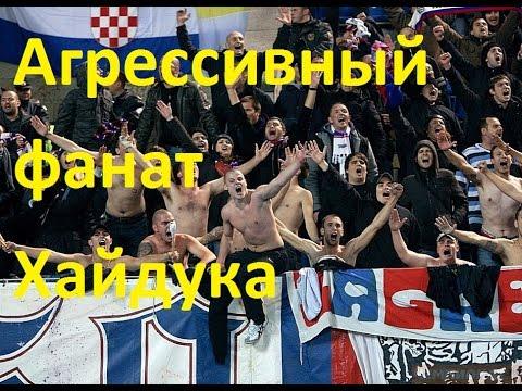 Агрессивный фанат Хайдука. Футбольные приколы