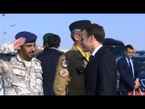 France's Macron visits Qatar's Al-Udeid Air Base