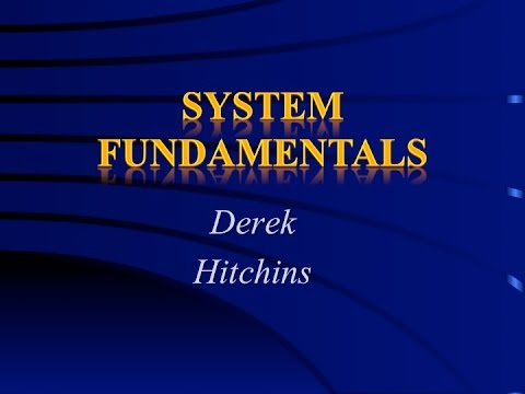 Systems & Systems Engineering—System Fundamentals