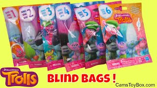Dreamworks Trolls Blind Bags Opening Series 6 5 4 3 2 1 Surprise Toys Review Names