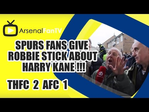 Spurs Fans Give Robbie Stick about Harry Kane !!! - Tottenham 2 Arsenal 1