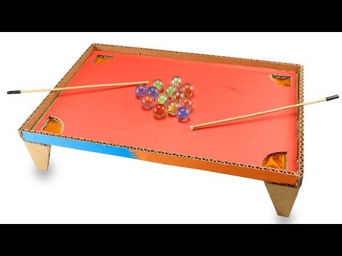 How To Make Pool Game from Cardboard - DIY pool table games at home - Pool Table games with 2 player