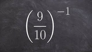 How to simplify a fra¢tion raised to a negative exponent