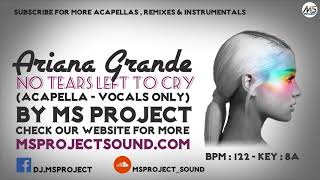 Ariana Grande - No Tears Left To Cry (Acapella - Vocals Only)