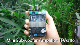 Mini Subwoofer Amplifier TPA3116