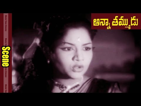 Unknown Women Escape With Child Ntr || Anna Thamudu Movie || NTR, Shavukaru Janaki