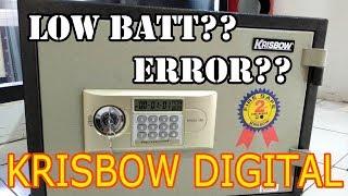 TUTORIAL Cara Buka Brankas Krisbow Digital Yang Terkunci Karena Baterai Habis dan Keypad Error