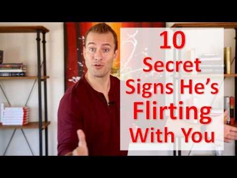 flirting signs he likes you like to believe video