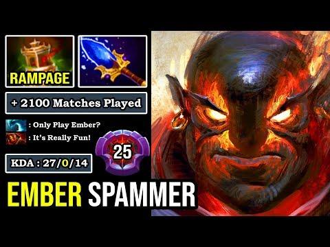 The Master Of DODGE +2100 Matches Ember Spammer EZ Rampage 27Kills & Zero Death DotA 2