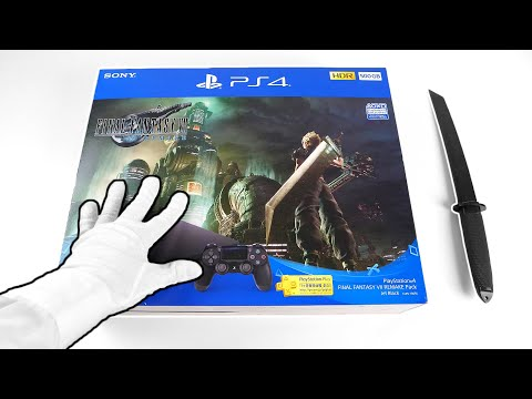 PS4 Final Fantasy VII Remake Console Unboxing (Japan Only!) Sony Wearable Neck Speaker