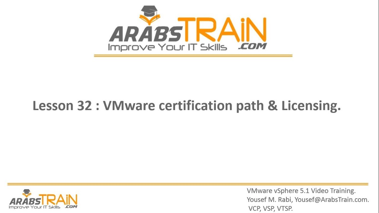 Lesson 32: VMware certification path and Licensing - YouTube