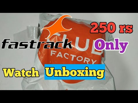 Fastrack watch unboxing only 250 rs