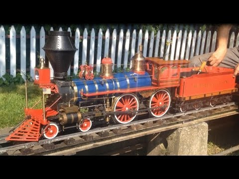 5 Inch Gauge American 4-4-0 Washington Live Steam Model Locomotive