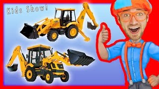Learn to count 1 to 10 with Backhoes | Number Rhymes for Children  - Blippi