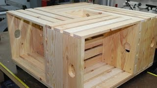 How To Make A Crate Coffee Table (woodlogger.com)