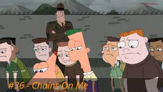 Repeat youtube video My Top 60 Phineas and Ferb Songs Part 3 (40-31)
