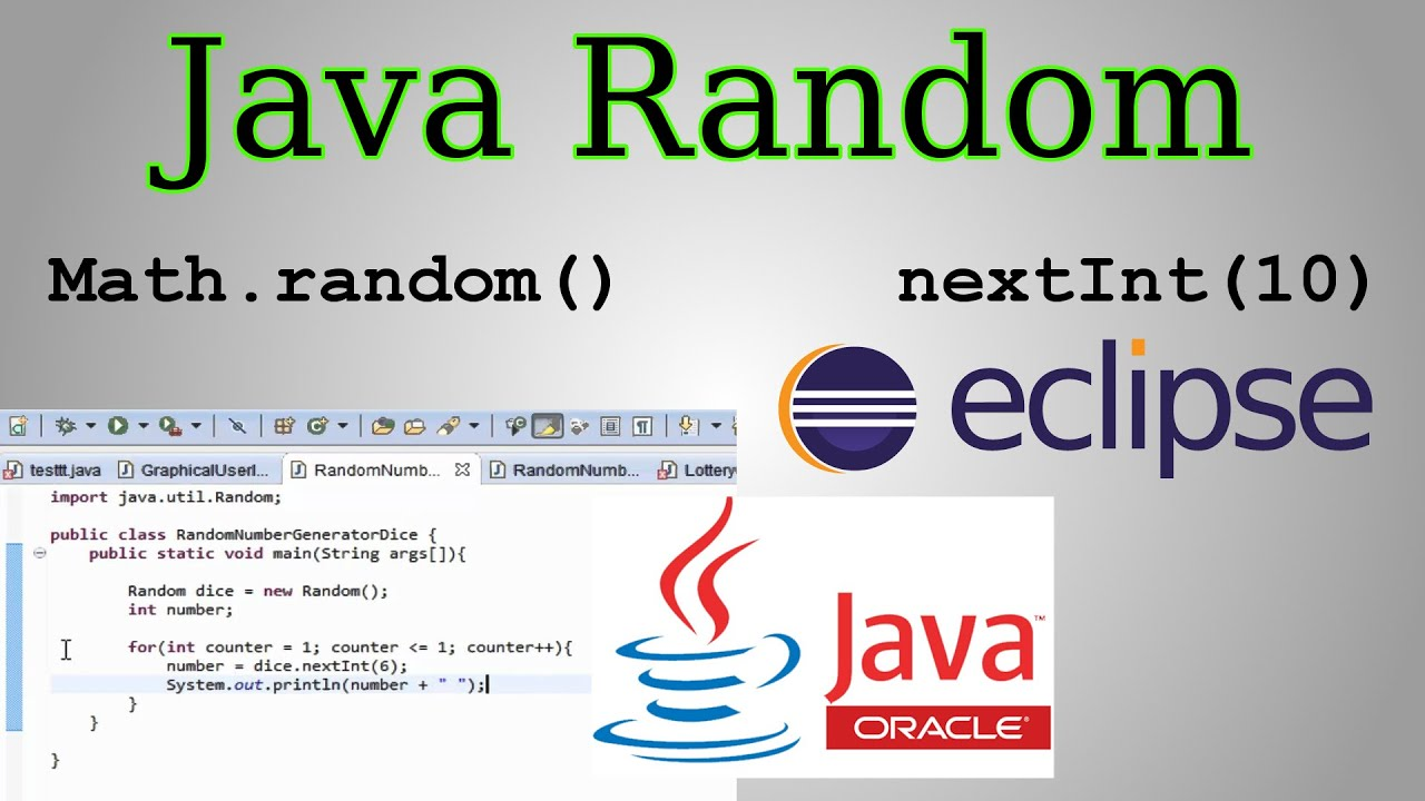 Java Random Tutorial (Math.random() vs Random Class
