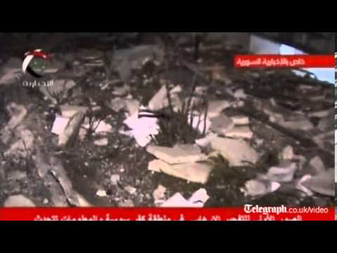 Aftermath of Damascus bomb aired on Syrian TV