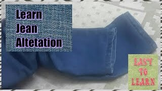 learn how to hem the jeans with original hemming step by step learning easy to learn