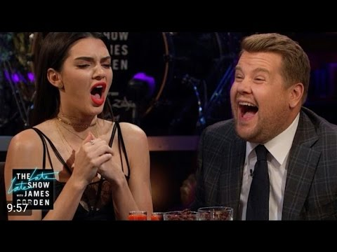 Spill Your Guts or Fill Your Guts w/ Kendall Jenner The Late Late Show with James Com
