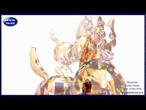 Swarovski Chinese Zodiac Horse, Large - Golden Shine at Crystal Palace