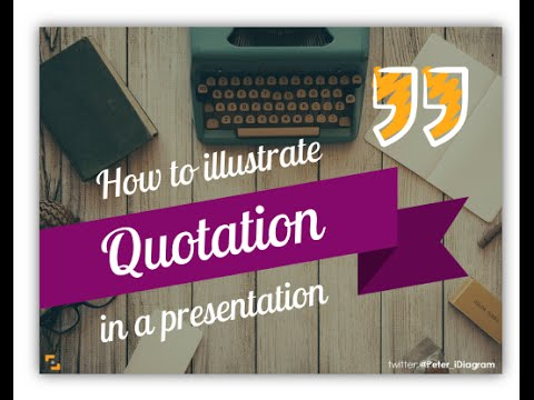 How to Design Quotation Slide - creative PPT inspirations - YouTube - quote on presentation