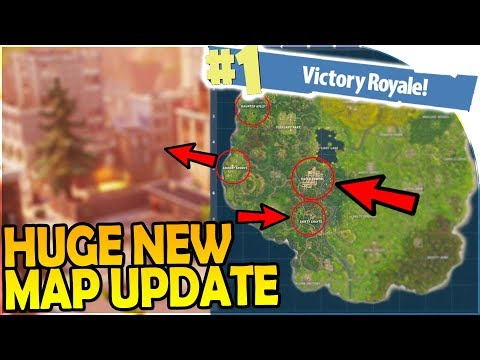 HUGE NEW MAP UPDATE  TILTED TOWERS, SHIFTY SHAFTS, SNOBBY SHORES  Fortnite Battle Royale Gameplay