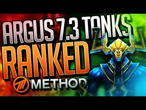 7.3 TANKS RANKED! BEST WORLD OF WARCRAFT ANTORUS THE BURNING THRONE LEGION TANK