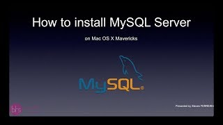 How to install MySQL-Server on Mac OS X Mavericks - ltamTube(Steven Ferreira, student from the BTSi Promo4 (T4IN) edited this ScreenCast in order to explain how to install a MySQL-Server (and Workbench) on Apple's Mac ..., 2014-04-22T16:15:53.000Z)
