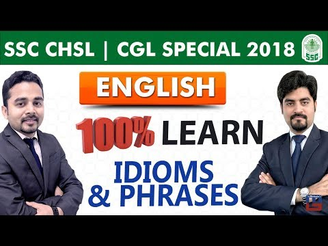 Idioms & Phrases   English   SSC CHSL   CGL Special 2018   Live At 5:00 PM