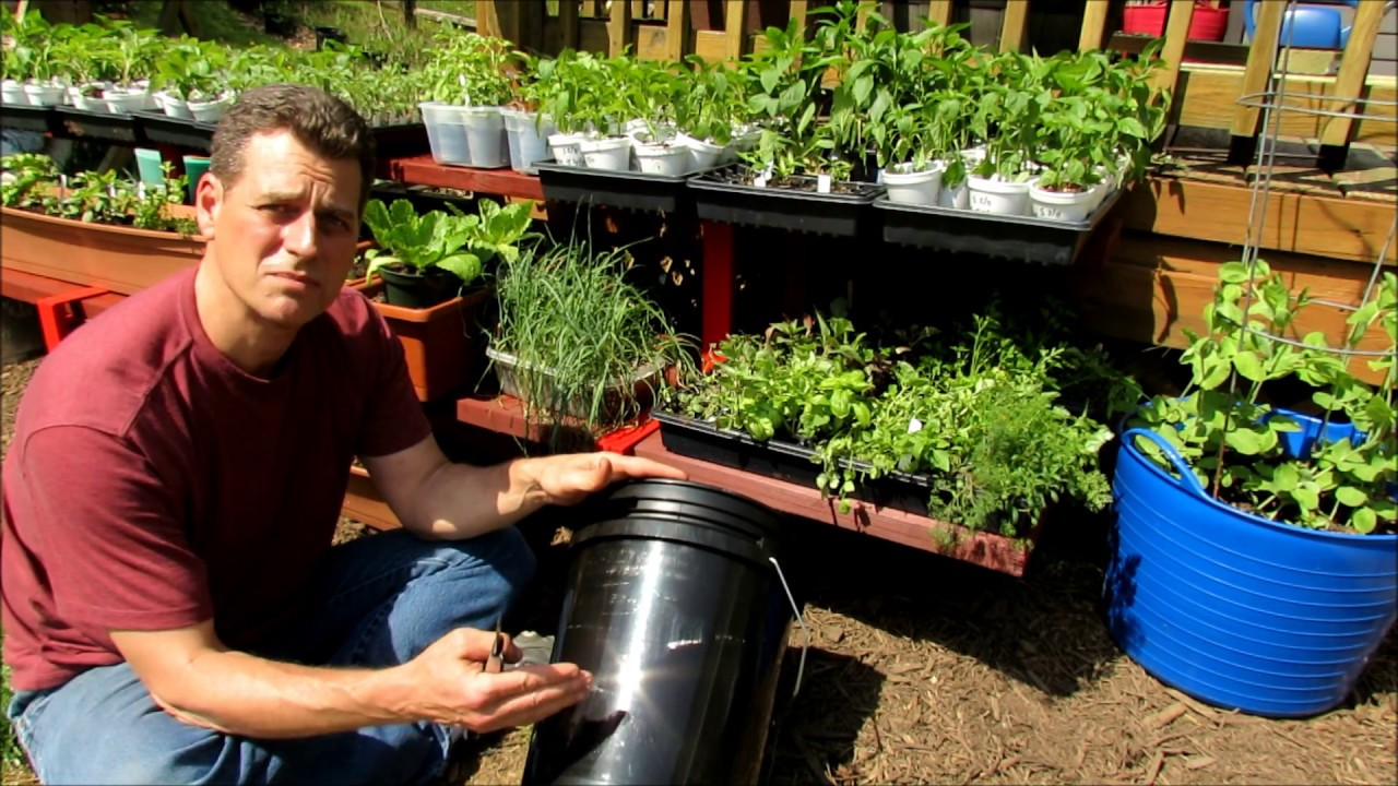 Setting Up A 5 Gallon Container For Gardening Line It Food Safe Drainage Hole Reservoir