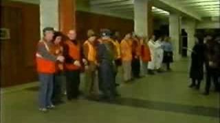 Закрытие гермодвери в метро
