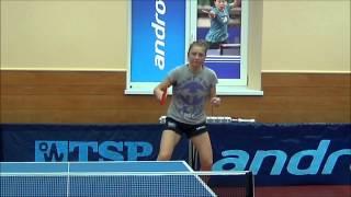Новикова Зоя Тренировка по настольному теннису в  TTCLUB