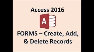 L'accès 2016 - Création de Formulaires - Bouton Nouvel Enregistrement - Comment Ajouter Supprimer Concevoir et Modifier un Formulaire en MS