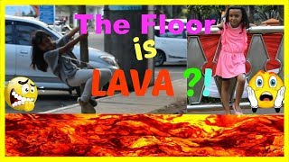 THE FLOOR IS LAVA CHALLENGE ♥ FUNNY KIDS CHALLENGE