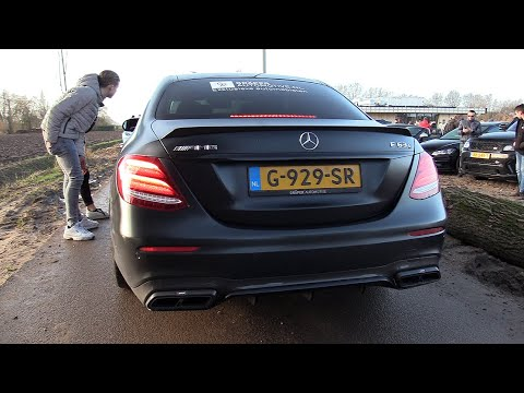 Mercedes-AMG E63s Sedan 4Matic+ W/ Akrapovic Exhaust - Start, Revs, Accelerating!