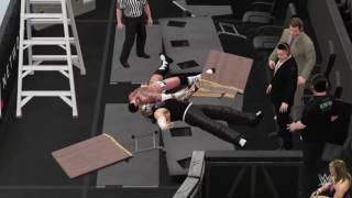 SUMMERSLAM GREATEST MOMENTS: JEFF HARDY SWANTON BOMB OFF A LADDER TO CM PUNK WWE 2k16